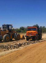 گزارش تصویری/ عملیات اجرایی احداث بلوار ورودی شهر بهارستان از سمت شهر جم