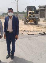 بازدید شهردار و نائب رئیس شورای اسلامی بهارستان از پروژه بلوار ورودی