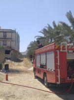 اطفاء حریق در یکی از کارگاه های شهر بهارستان