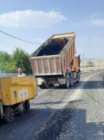 عملیات آسفالت خیابان شهید آذریار انجام شد+ تصاویر