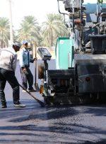 عملیات آسفالت خیابان اصلی محله چاهتلخو آغاز شد