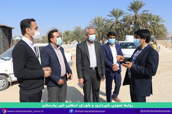 بازدید فرماندار شهرستان جم از پروژه های عمرانی شهر بهارستان