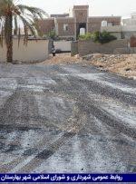 عملیات قیرپاشی کوچه شبنم و خیابان شفا انجام شد