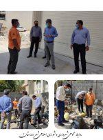 بازدید میدانی شورا و شهردار از وضعیت شبکه آب شهر بهارستان