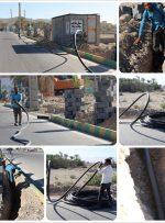 عملیات لوله گذاری برای ۵ کیلومتر آبیاری قطرهای در معابر شهر بهارستان در حال اجرا است